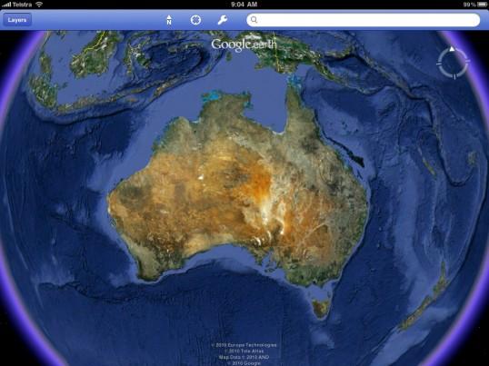 Google earth arrives for ipad macworld australia macworld australia a gumiabroncs Gallery