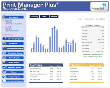 print manager plus offers detailed reports on office printing